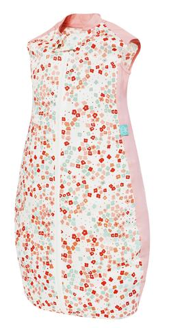 ERGOPOUCH Organic/Bamboo - Spací pytel Organic Cotton Pink Flower 12-36m