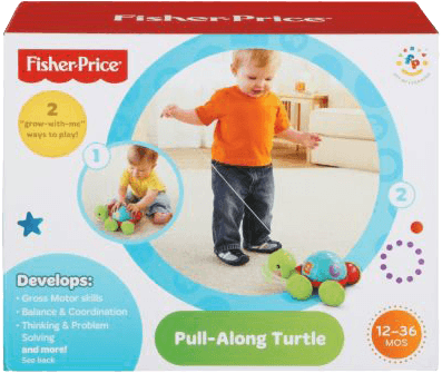 FISHER-PRICE Tahací želvička