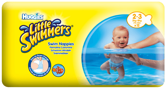 Huggies Little Swimmers 2-3/3-8 kg 12 ks + 5 % cashback při platbě s Twisto