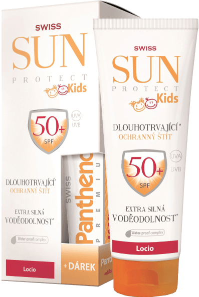 SunProtect Swiss KIDS F50 loc 250ml Panthenol 50ml + 5 % cashback při platbě s Twisto