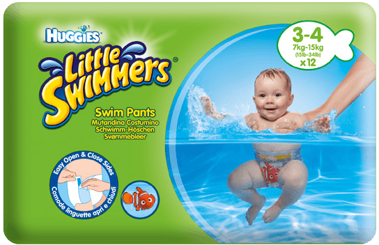 Huggies Little Swimmers 3-4/7-15 kg 12 ks + 5 % cashback při platbě s Twisto