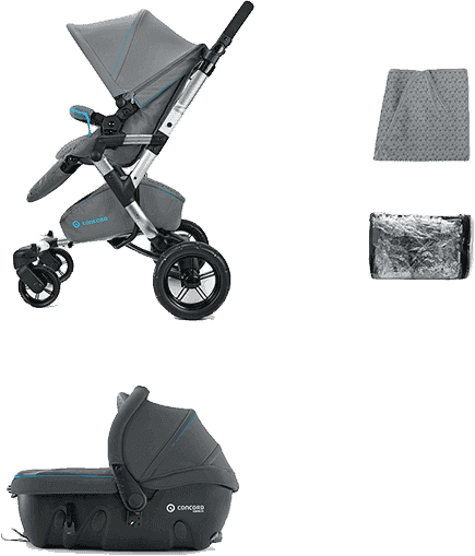 CONCORD Travel Set Neo Air+Sleeper 2016 – Graphite grey