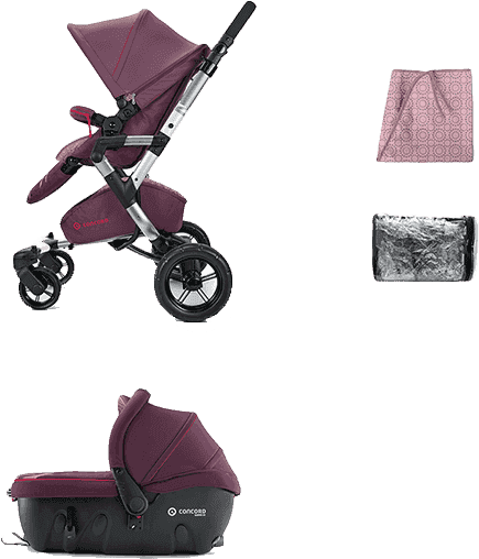 CONCORD Travel Set Neo Air+Sleeper 2016 – Rose pink
