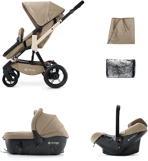 CONCORD Travel Set Wanderer Air+Sleeper 2016 – Almond Beige