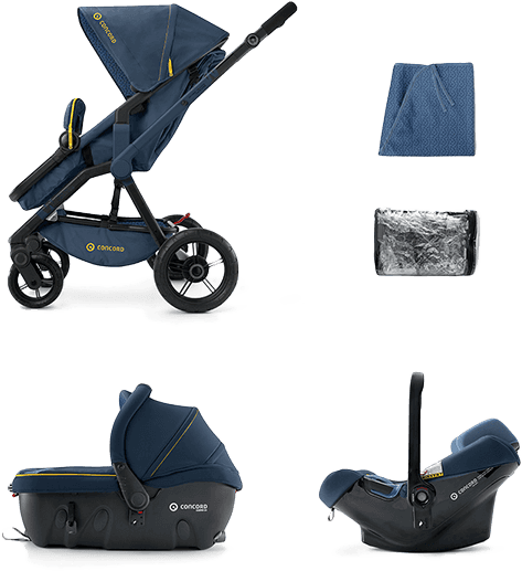 CONCORD Travel Set Wanderer Air+Sleeper 2016 – Denim Blue