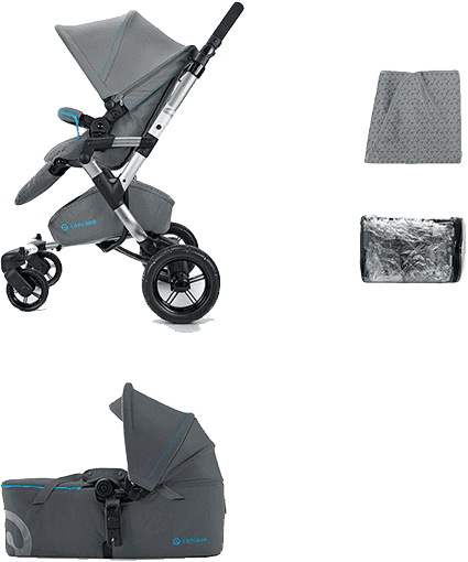 CONCORD Mobility Set Neo Air+Scout 2016 – Graphite grey