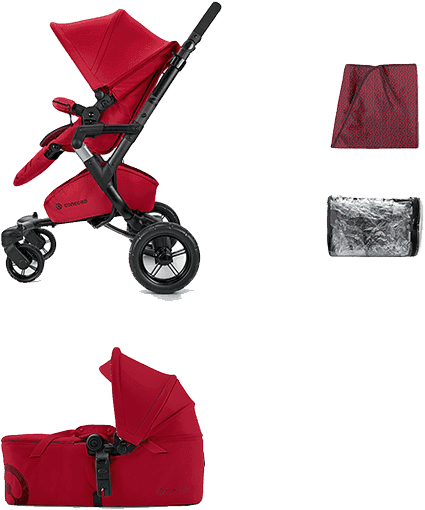 CONCORD Mobility Set Neo Air+Scout 2016 – Tomato red