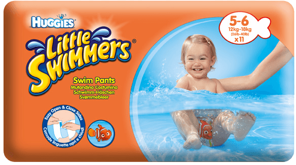 Huggies little swimmers medium 11-15kg 11ks + 5 % cashback při platbě s Twisto