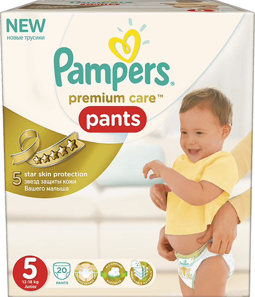PAMPERS Premium Care Pants 5 JUNIOR 20 ks (12-18 kg) - plenkové kalhotky