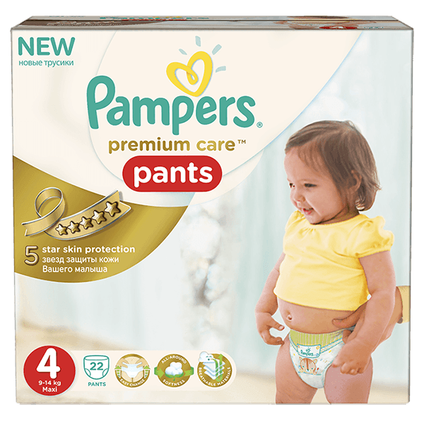 Pampers Premium Care Pants 4 Maxi 9-14kg, 22ks + 5 % cashback při platbě s Twisto