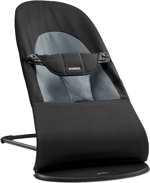 BABYBJÖRN Lehátko Balance Soft – Black/Dark Grey