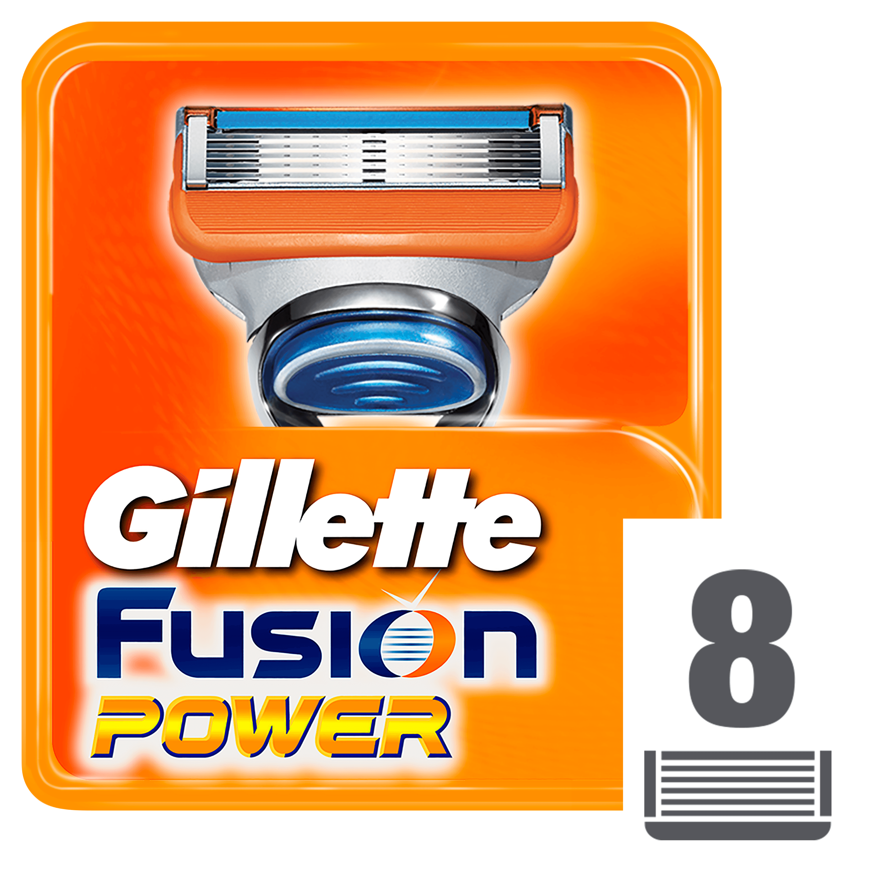 GILLETTE Fusion Power 8ks – holící hlavice
