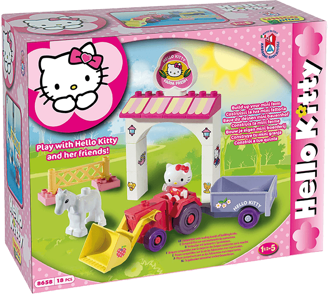 UNICO Hello Kitty Stavebnice – Mini Farma 18ks + 5 % cashback při platbě s Twisto