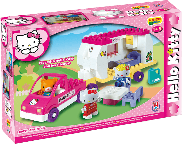 UNICO Hello Kitty Stavebnice – Karavan 47ks