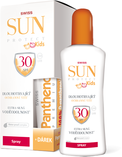 SunProtect Swiss KIDS F30 spr 250 ml + Panthenol 50 ml