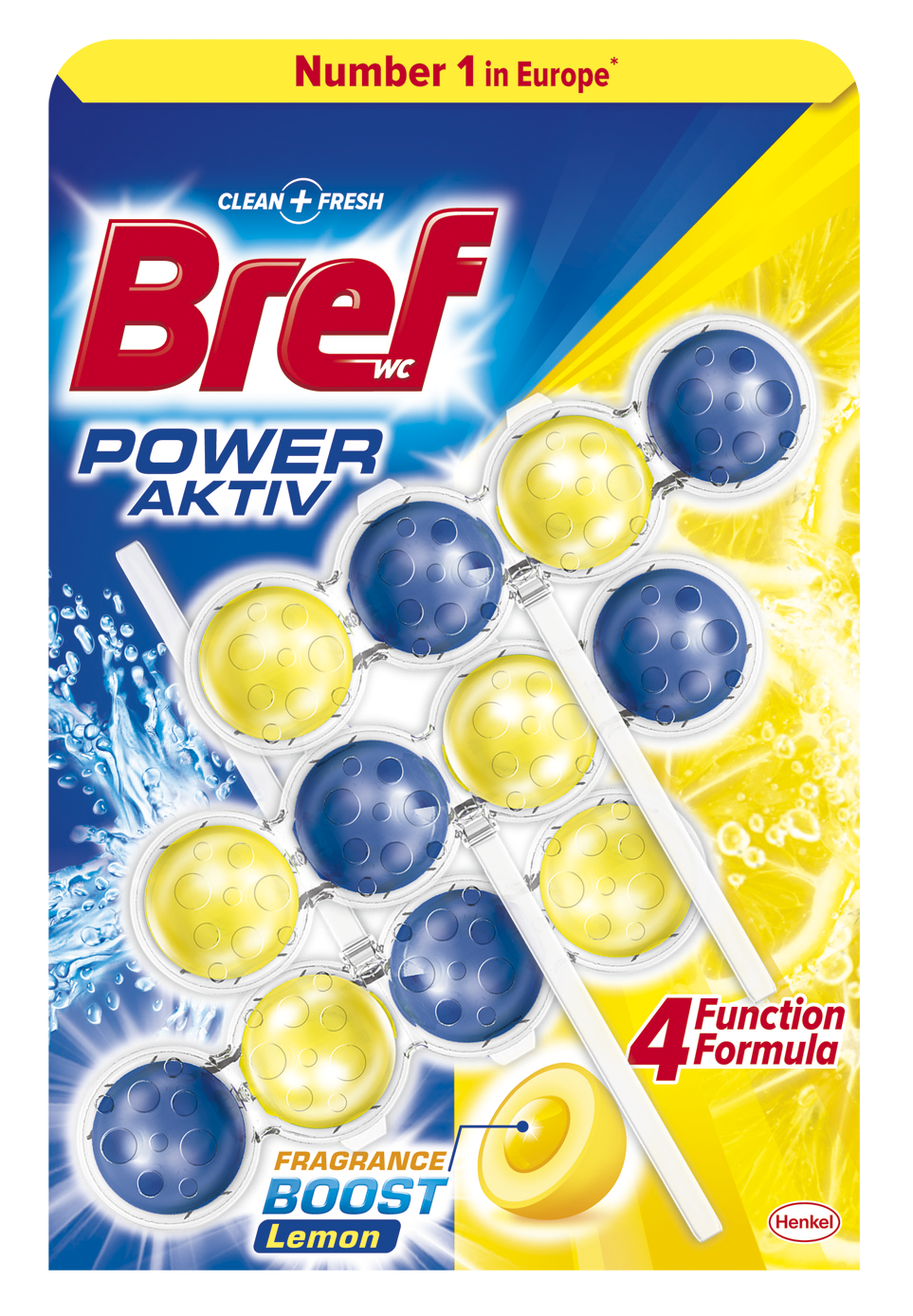 BREF Power Aktiv Lemon WC blok (3x50 g)