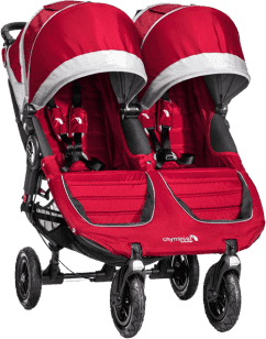 BABY JOGGER Kočárek City Mini GT Double 2016 - Crimson/Gray