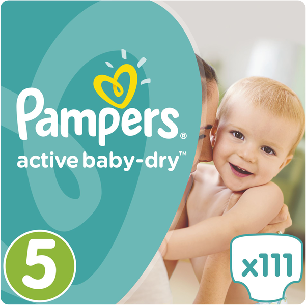 Pampers Active baby 5 junior 111ks + 5 % cashback při platbě s Twisto