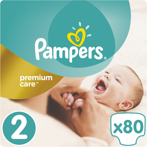 PAMPERS Premium Care 2 MINI 80ks (3-6kg) + 5 % cashback při platbě s Twisto