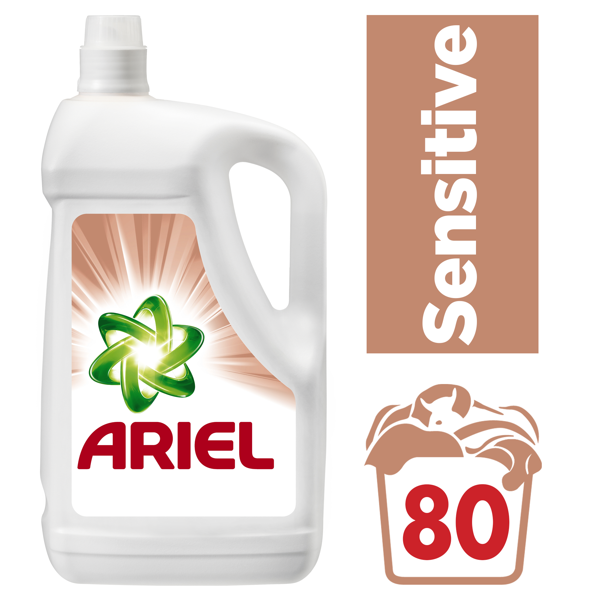 ARIEL Sensitive 5,2 L (80 dávek) - prací gel