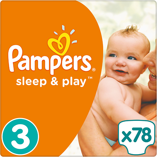 Pampers Sleep&play midi 4-9kg 78ks + 5 % cashback při platbě s Twisto