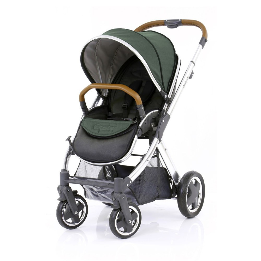 BABYSTYLE OYSTER 2 Kočárek, mirror tan rám + Colour pack, olive green (2017)