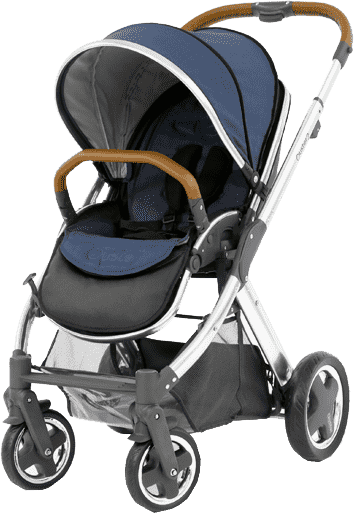 BABYSTYLE OYSTER 2 Kočárek, mirror tan rám + Colour pack, oxford blue (2017)