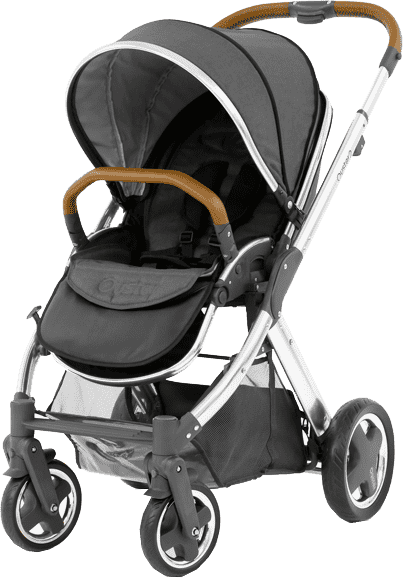 BABYSTYLE OYSTER 2 Kočárek, mirror tan rám + Colour pack, tungsten grey (2017)