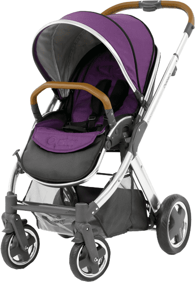 BABYSTYLE OYSTER 2 Kočárek, mirror tan rám + Colour pack, wild purple (2017)