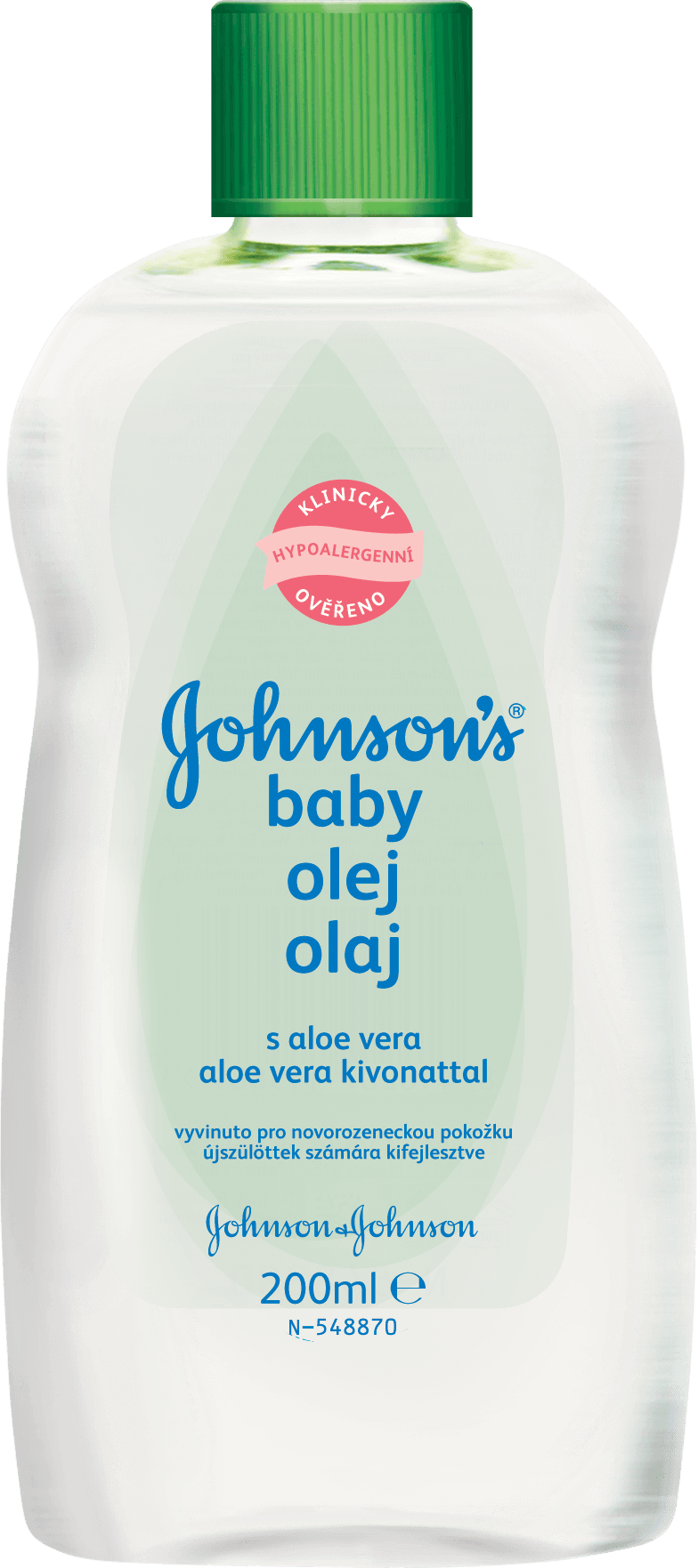 JOHNSON'S BABY Olej s aloe vera (200 ml)