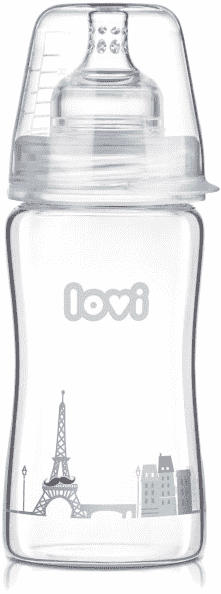 LOVI Láhev skleněná 250 ml Diamond Glass – Retro boy