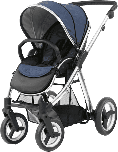 BABYSTYLE OYSTER 2 Kočárek, mirror rám + Colour pack, oxford blue (2017)