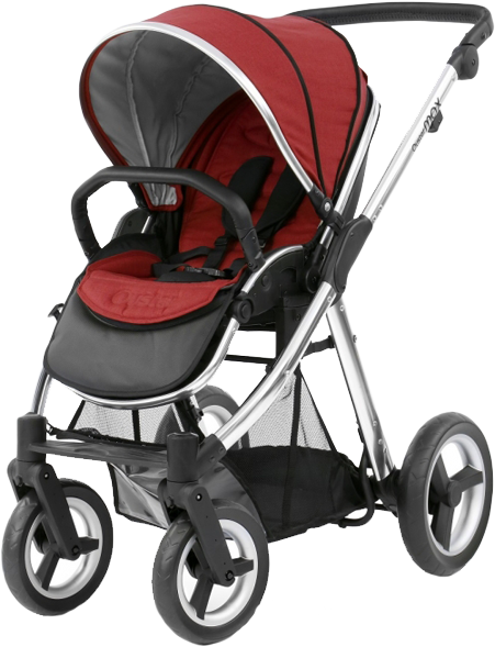 BABYSTYLE OYSTER 2 Kočárek, mirror rám + Colour pack, tango red (2017)