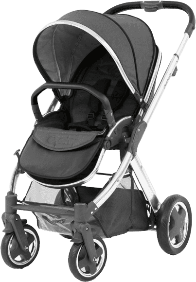 BABYSTYLE OYSTER 2 Kočárek, mirror rám + Colour pack, tungsten grey (2017)