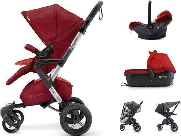 CONCORD Travel Set Neo Air.Safe+Sleeper, Flaming Red 2017
