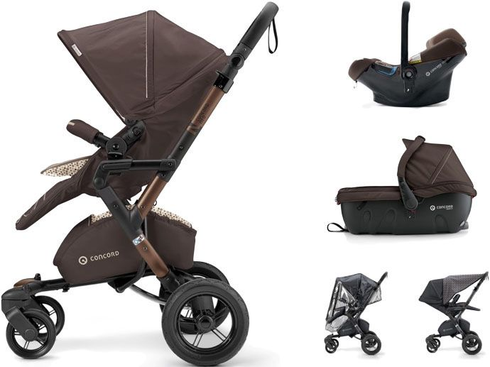 CONCORD Travel Set Neo Air.Safe+Sleeper, Toffee Brown 2017
