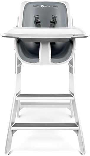 4MOMS Jídelní židlička HIGH CHAIR white/grey - 4MOMS WHITE/GREY