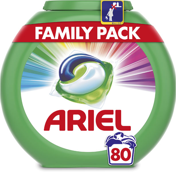 ARIEL Color All in 1 (80 ks) - tablety na praní - Ariel 3v1 Color gelové kapsle 80 ks