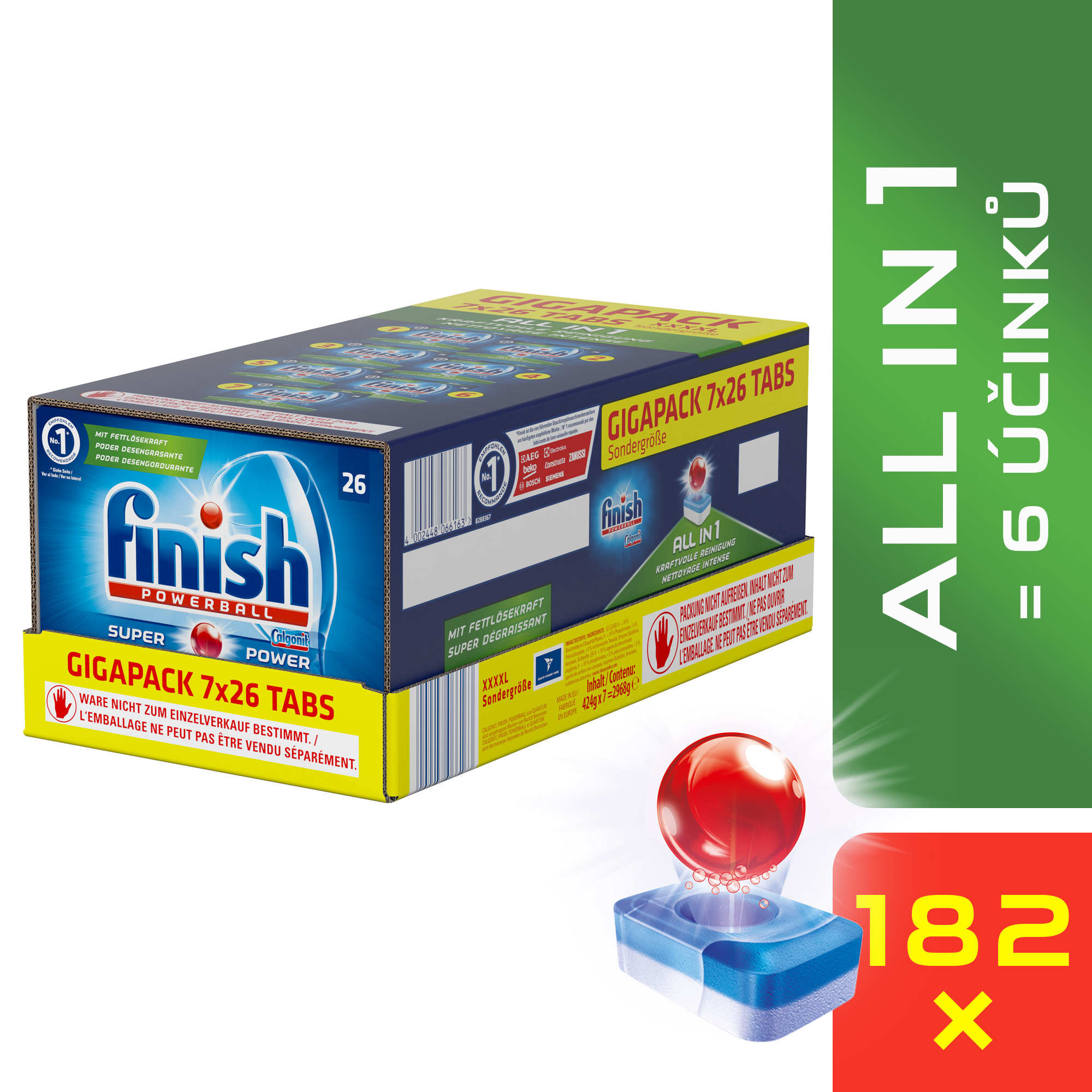 FINISH All-in-1 GIGAPACK 182 ks – tablety do myčky