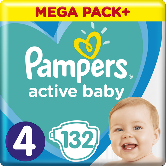 Pampers Active Baby Mega Pack S4 132 ks