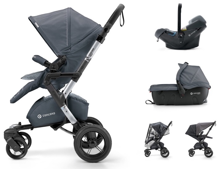 CONCORD Travel Set Neo Air.Safe+Sleeper Steel Grey 2018
