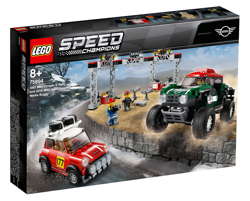 LEGO® Speed Champions 75894 1967 Mini Cooper S Rally a 2018 MINI John Cooper Works Buggy