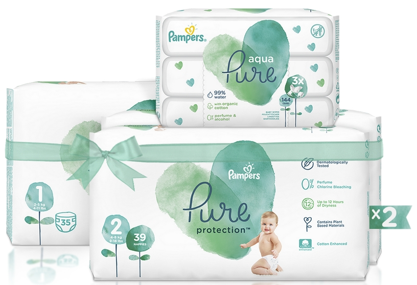 PAMPERS Pure starter pack