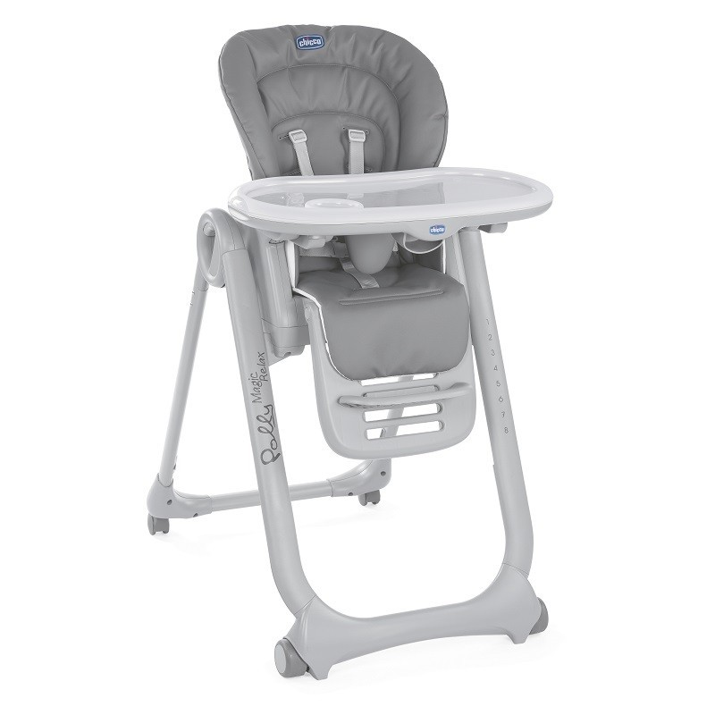 CHICCO Židlička jídelní Polly Magic Relax - Graphite Chicco 8058664108732