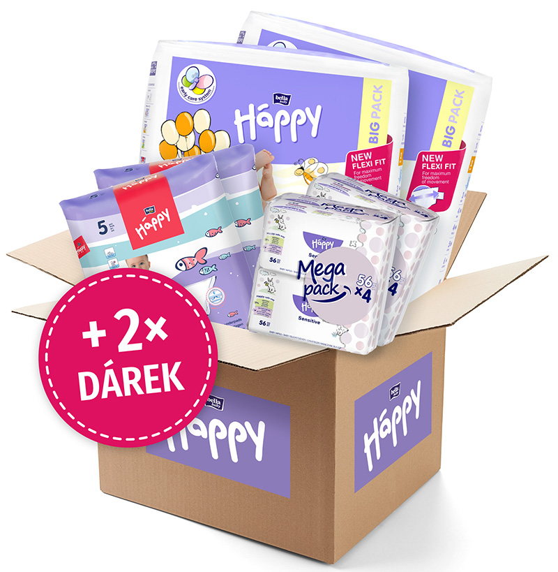 BELLA HAPPY BABY Start Box Mini (3-6 kg) – jednorázové pleny