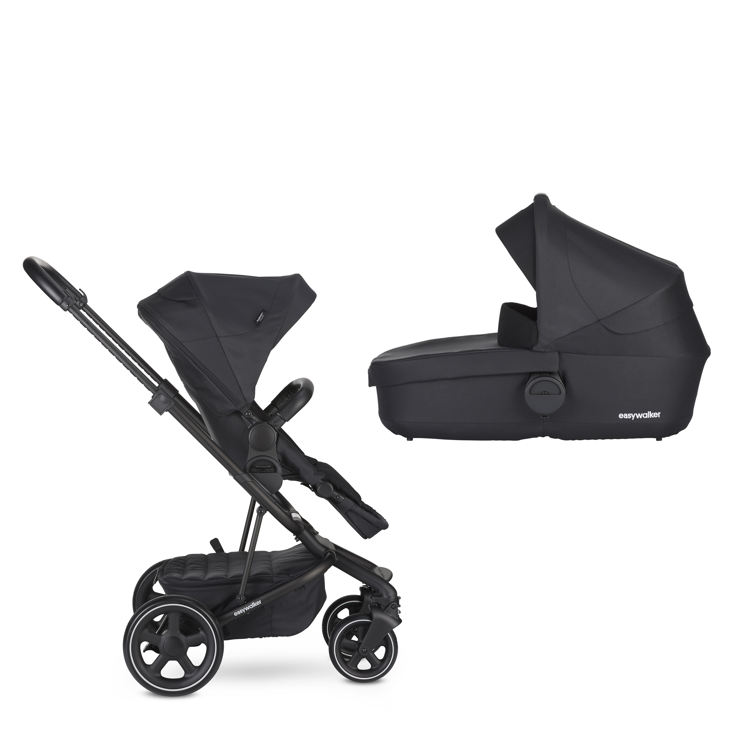 EASYWALKER Kočárek Harvey2 Premium Onyx Black 2020 - set