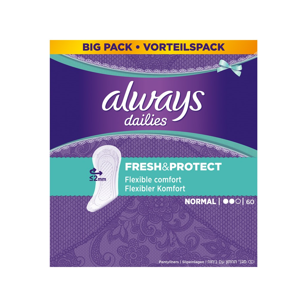 ALWAYS Fresh & Protect Normal intimky x 60
